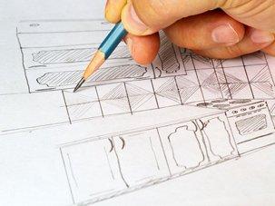 massimo sketching an interior decorating concept