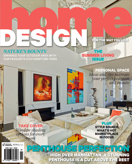home design magazine featuring massimo interiors