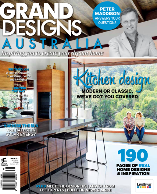 grand designs magazine with massimo interiors article