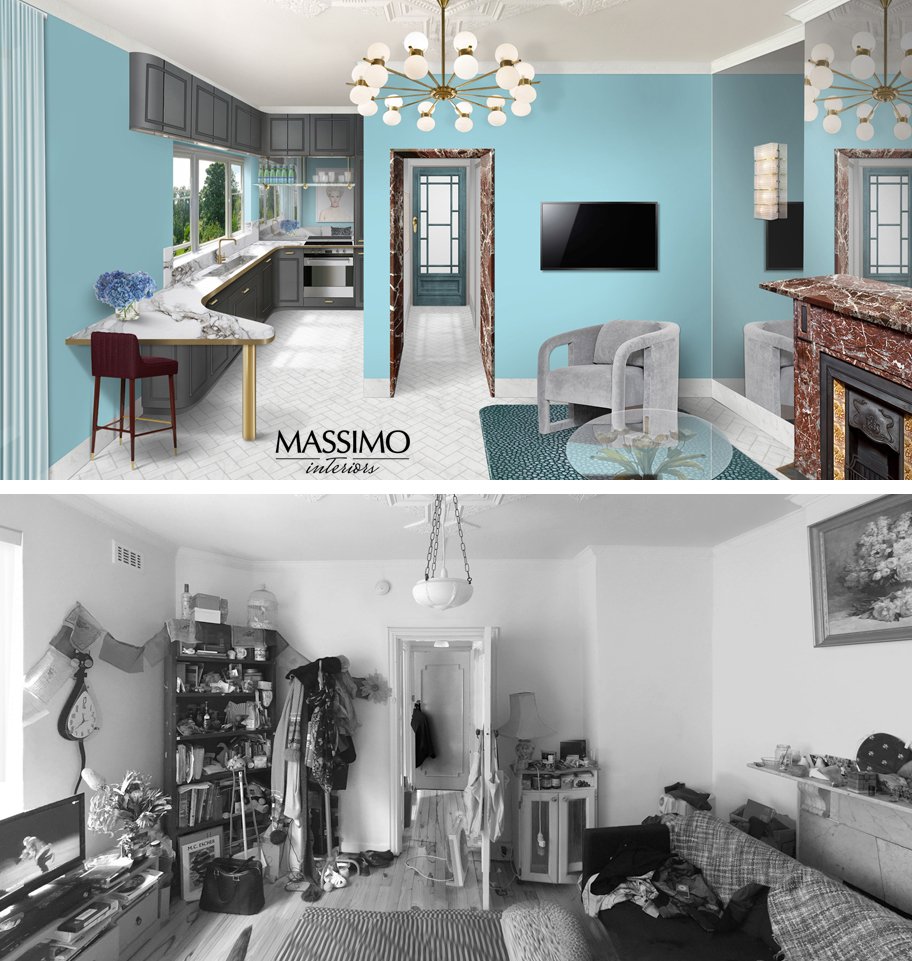 BEFORE AFTER-South Yarra Apartment-1